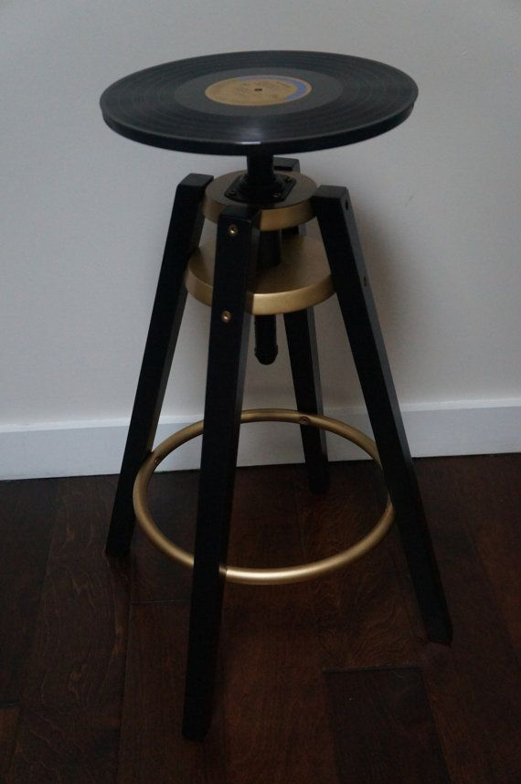 Vinyl Record Bar Stool In 2019 Bar Stools Stool Vinyl