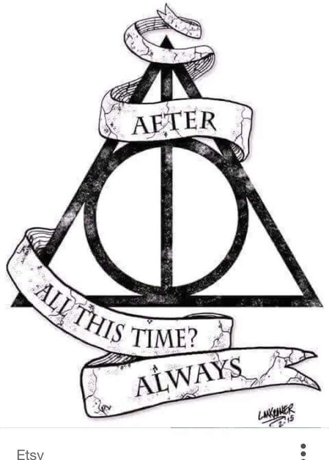 Harry Potter Deathly Hallows Symbol Always Quote