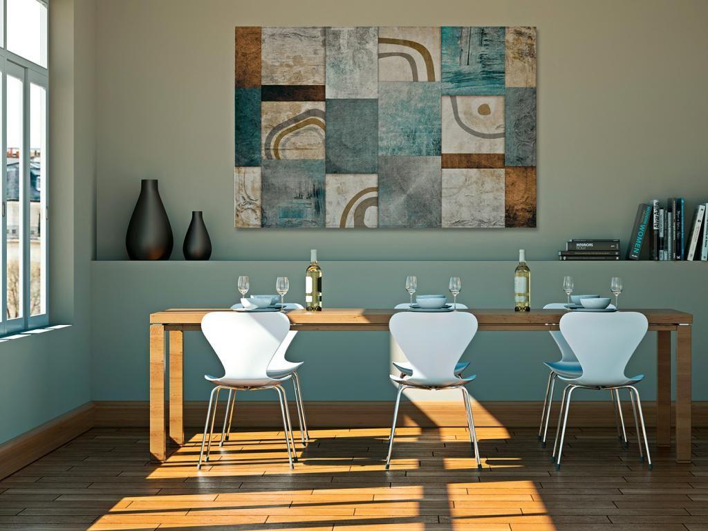 13901 Obraz Na Plotnie Abstrakcja Kwadraty Hit 5337338267 Oficjalne Archiwum Allegro Home Decor Interior Home