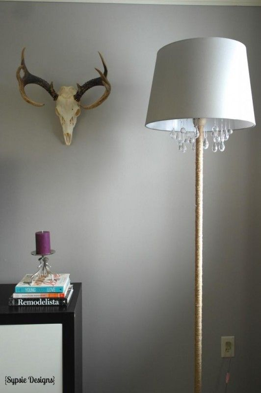 upcycled DIY chandelier lamp, Sypsie Designs featured on Remodelaholic