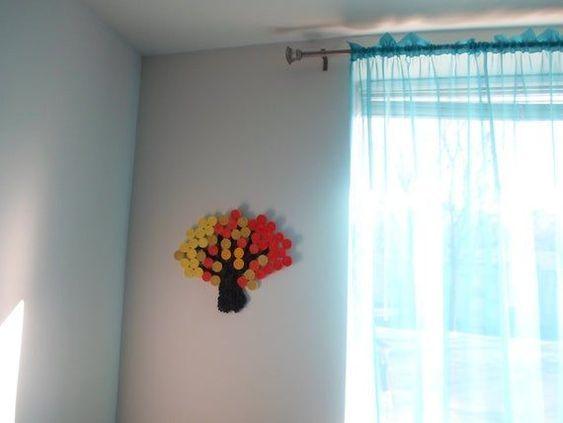 Wall decoration Orange Yellow Wall hanging Autumn Fall Tree decor Paper wall art Bedroom Living room#art #autumn #bedroom #decor #decoration #fall #hanging #living #orange #paper #room #tree #wall #yellow