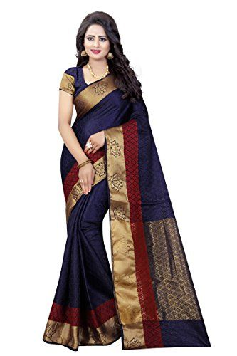 f7771c6e34 Soft Fabric :Cotton Silk saree for women Pattern : Jacquard , As Shown in  image