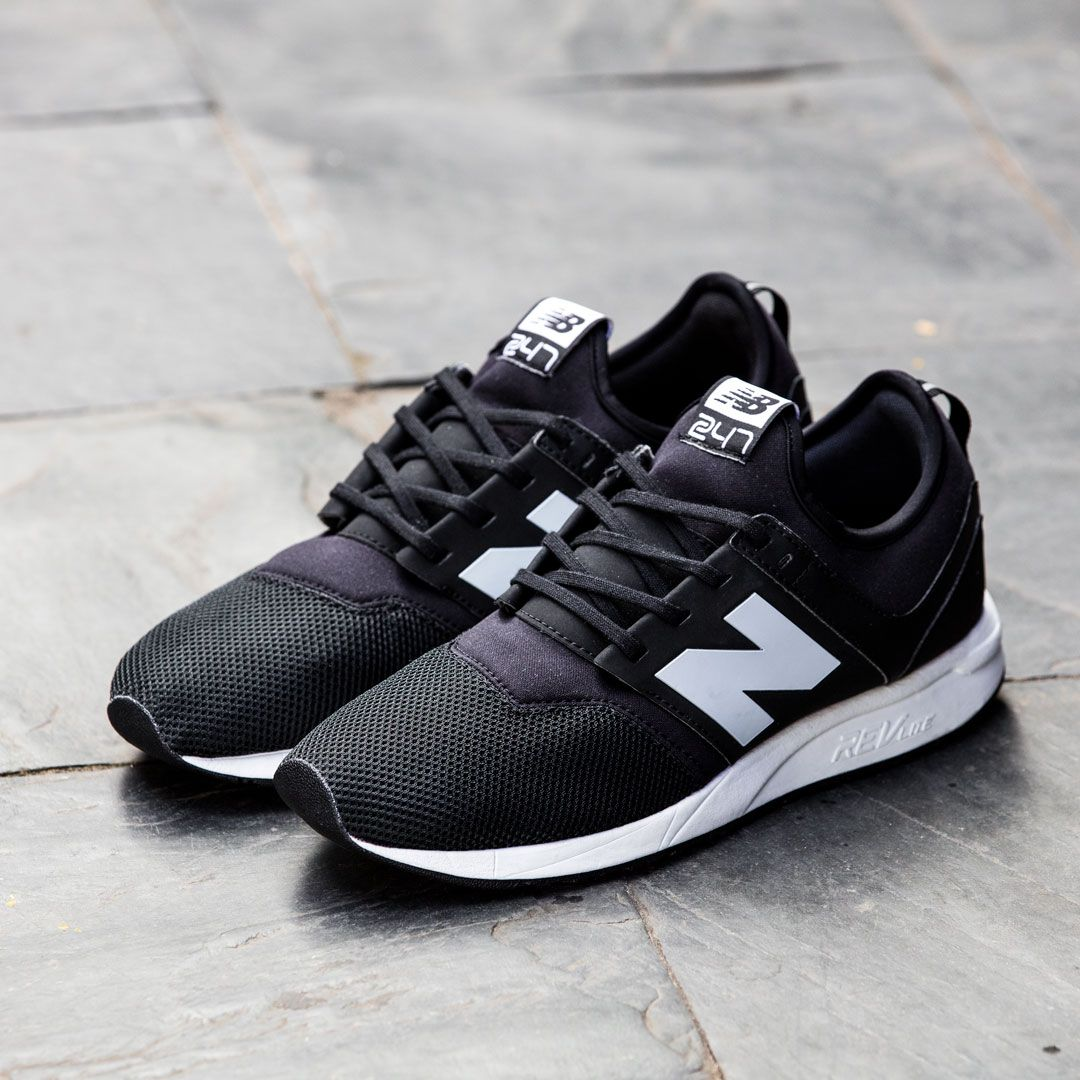 Brand new pair of New Balance NB 247 Black White. The shoes as the name