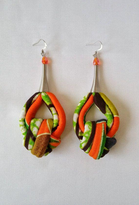 Paper earrings handmade multicolor earrings African tribal earrings decoupage earrings Afrocentric earrings colorful geometric earrings