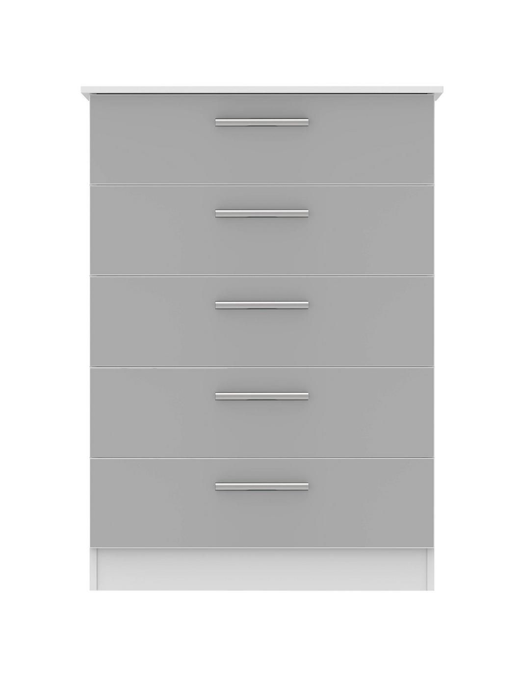 swift montreal ready assembled tall 5 drawer chest drawers and