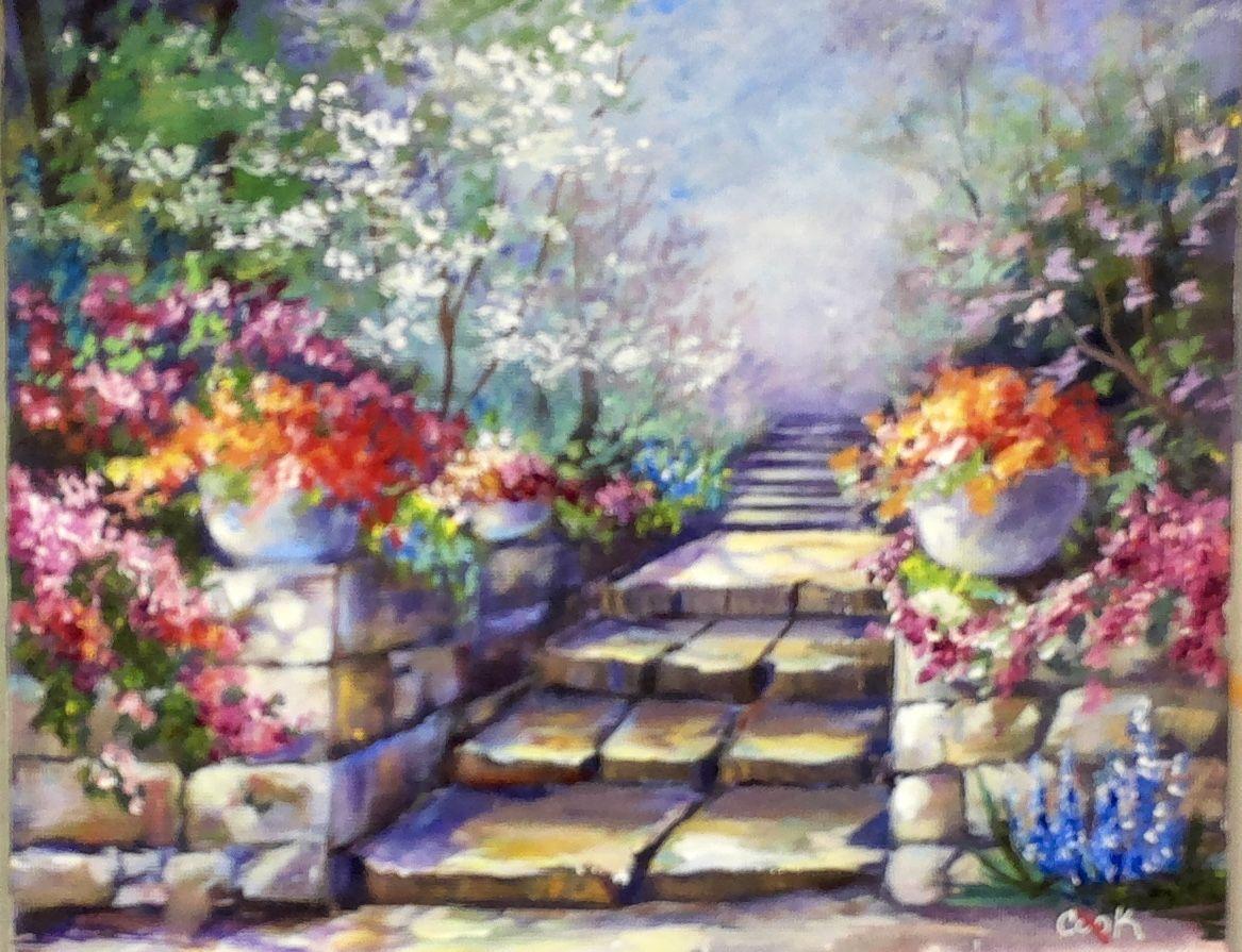garden steps featured july