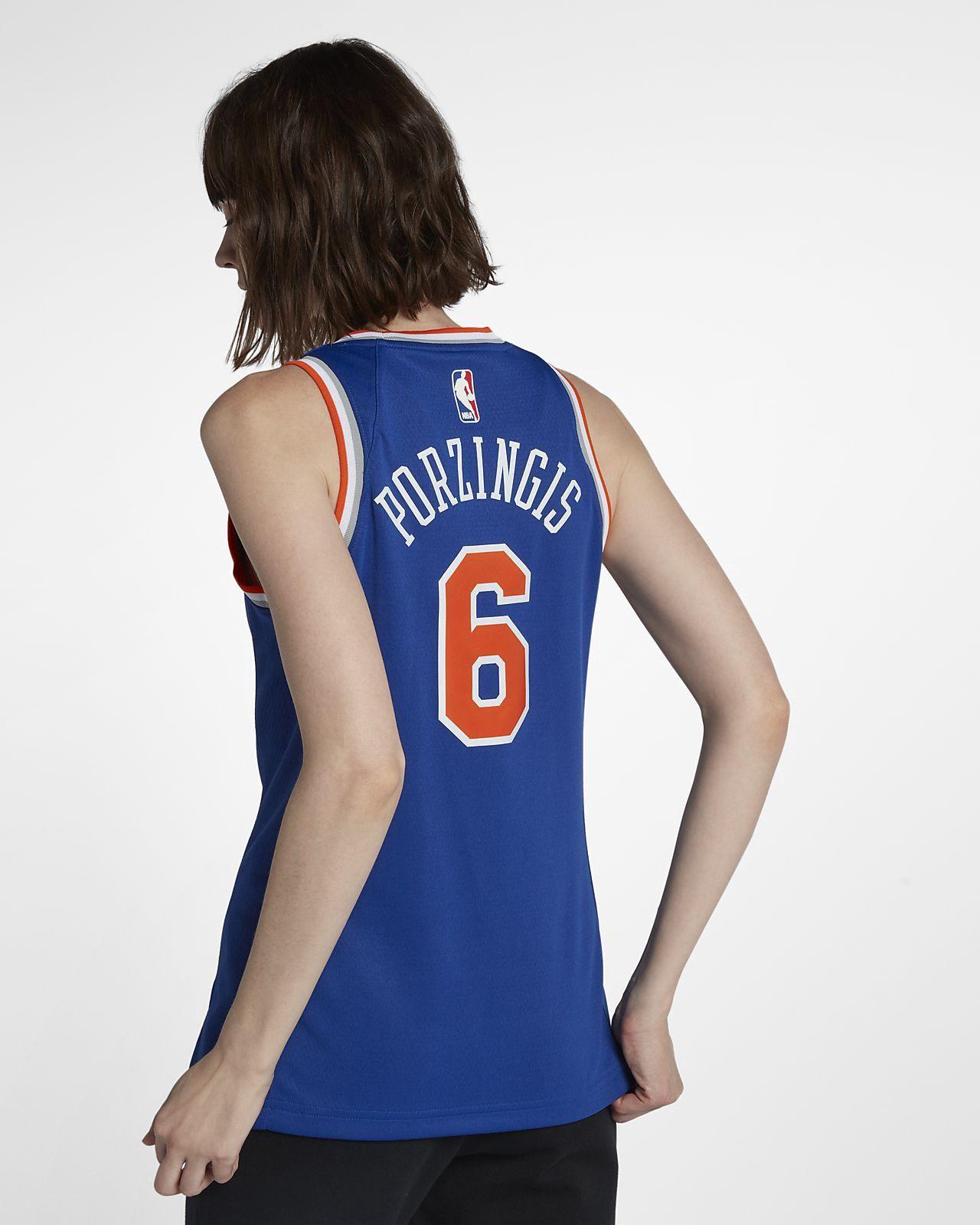 Nike Kristaps Porzingis Icon Edition Swingman Jersey (New York Knicks)  Women s Nba Connected - Xl (16–18) Blue 3861a6fee6