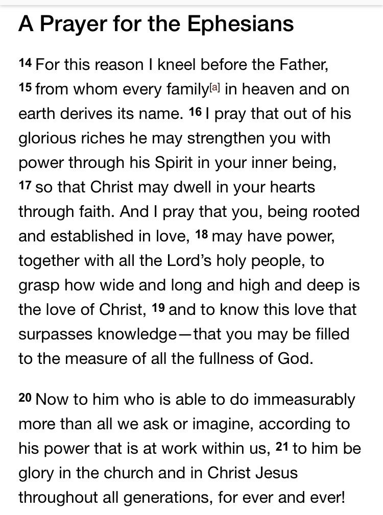 Ephesians 3:14-21 | Lifting my eyes up to the hills--Psalm ...
