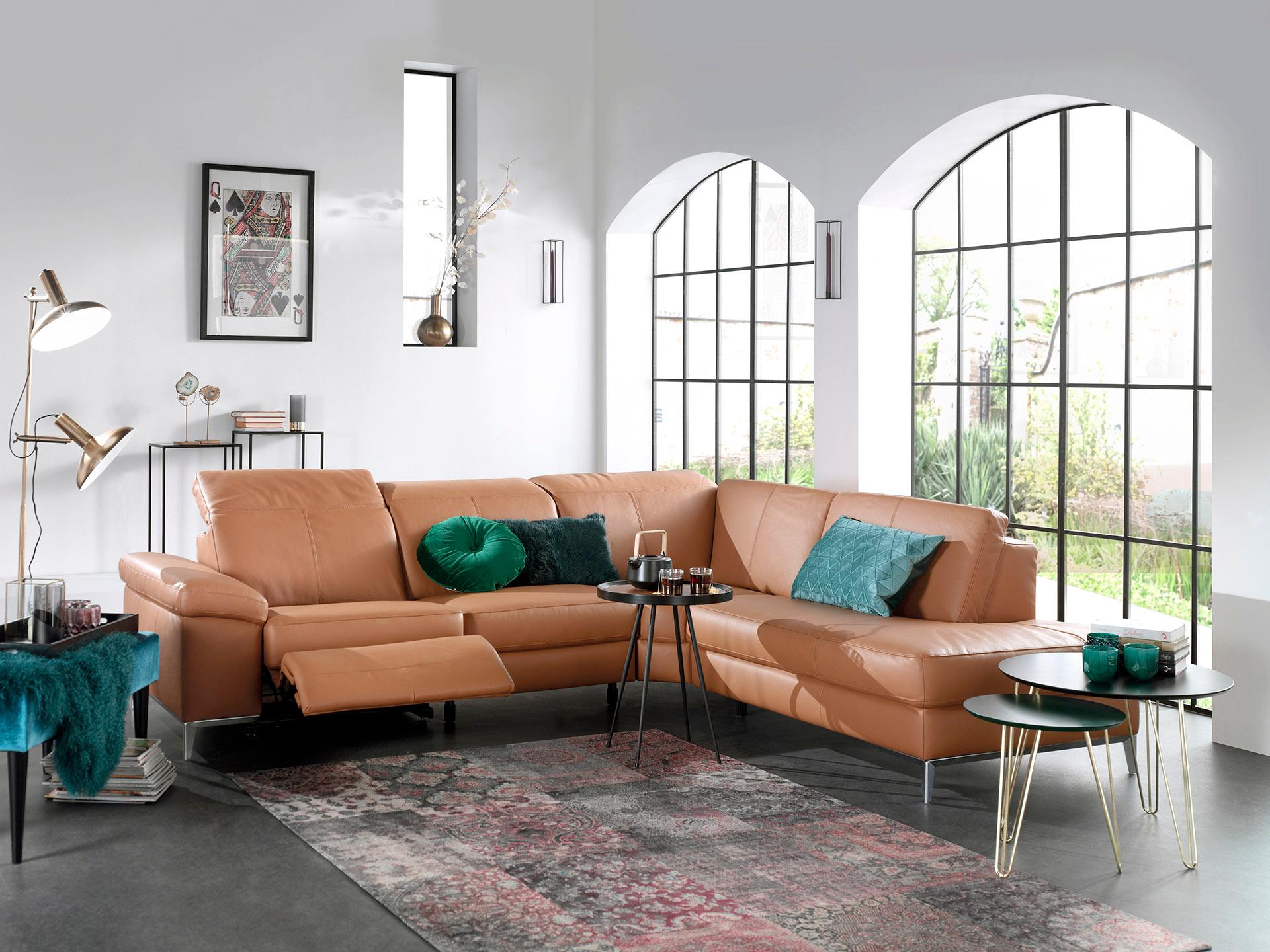 Hoeksalon In Leder Per 10 Cm Met Relaxfunctie Gero In 2020 Thuisdecoratie Meubel Ideeen Stoel Met Armleuning