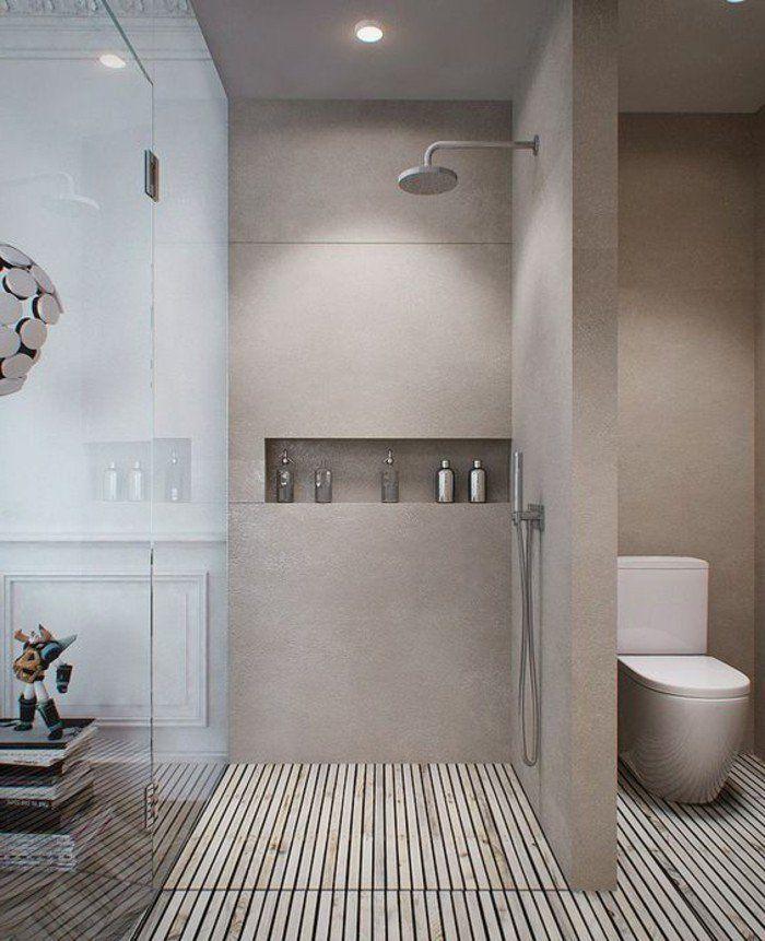 la salle de bain avec douche italienne 53 photos salle de bains pinterest douche leroy. Black Bedroom Furniture Sets. Home Design Ideas