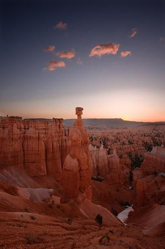 View of Thor's Hammer right before sunrise / via Tyler Westcott, Bryce Canyon National Park, Utah
