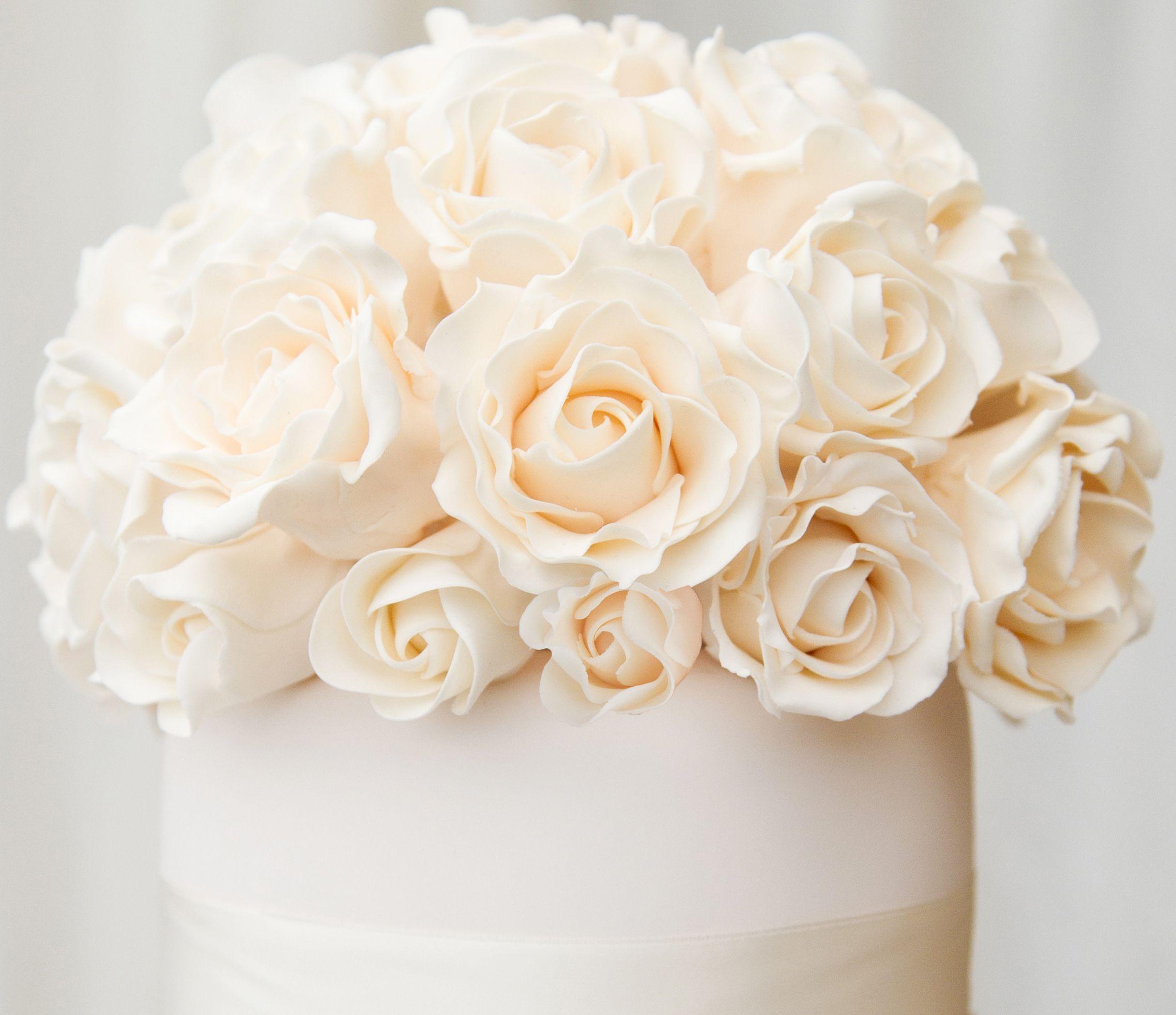 Exquisite hand made sugar roses