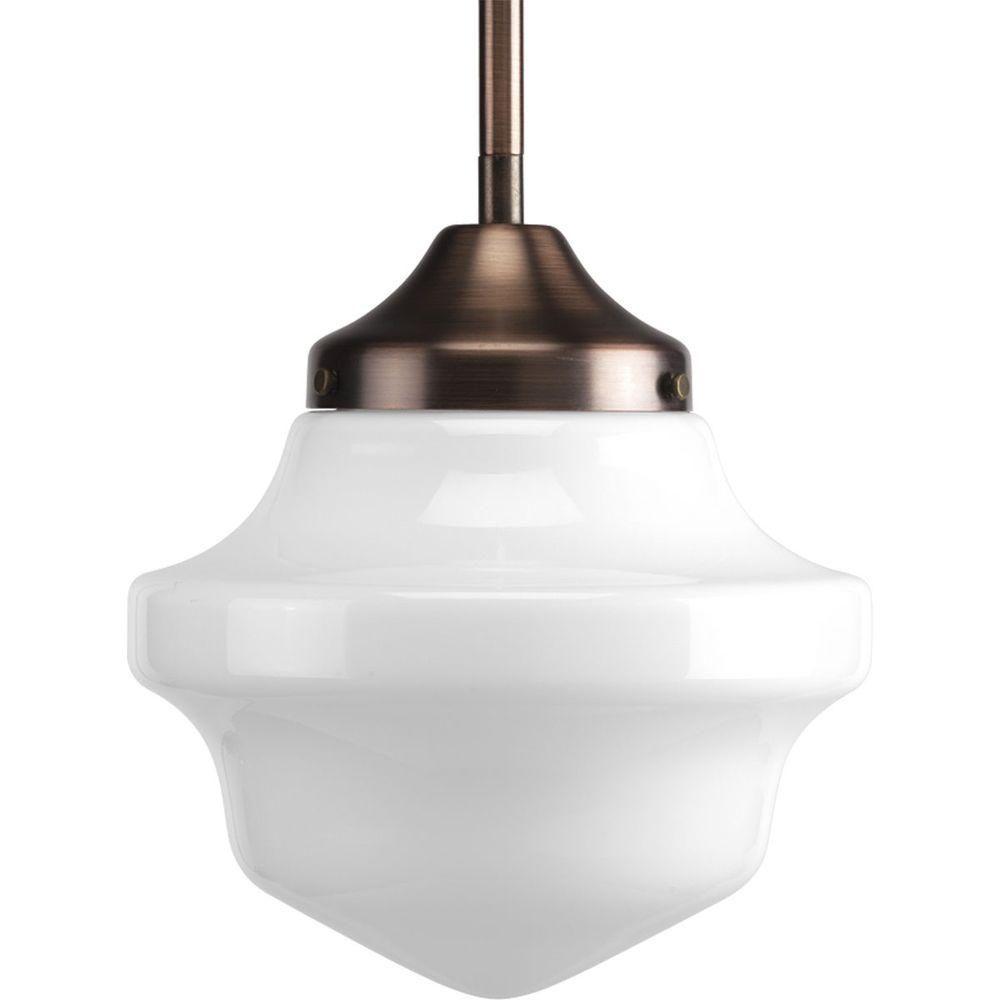 Progress lighting schoolhouse collection light brushed nickel mini