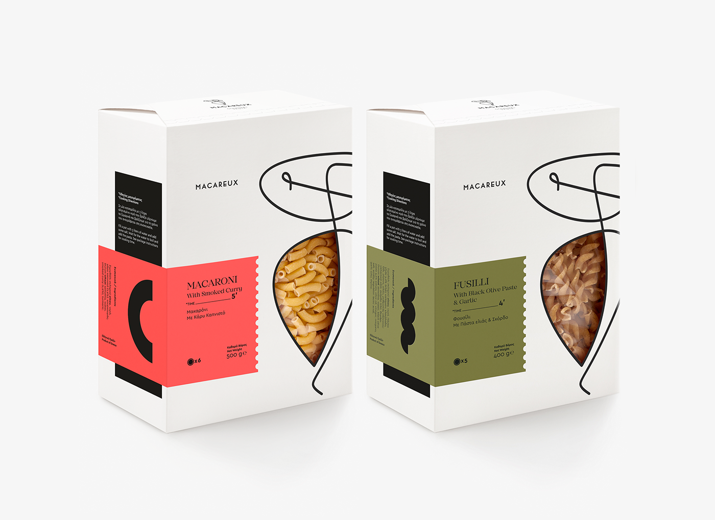 A packaging series for high-value nutritional pasta. The Atlantic puffins, also called Macareux [makarø], helped us naming and creating the logo, by highlighting the delicate but also multifaceted product's nature. They also showed us the way to a black &…