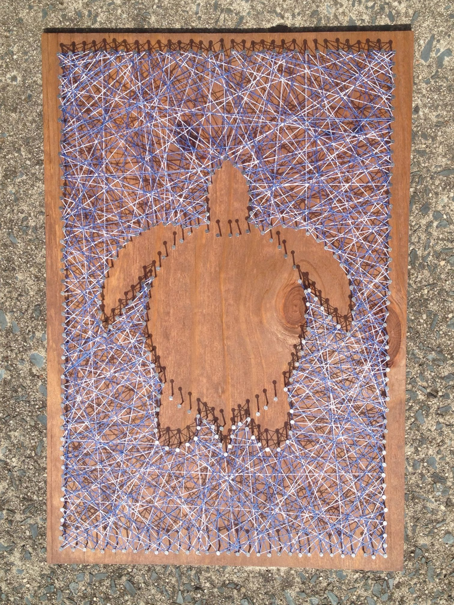 Yarn art color garden - Sea Turtle Nail And String Art Order On Etsy Http Www