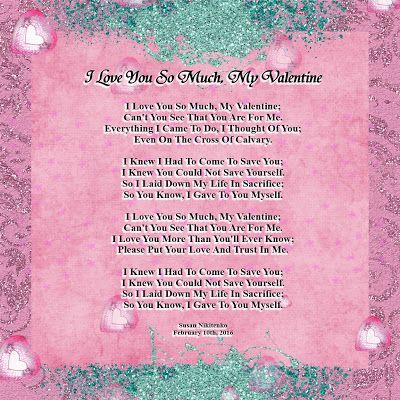 treasure box poetry and praise i love you so much my valentine - Christian Valentine Poems