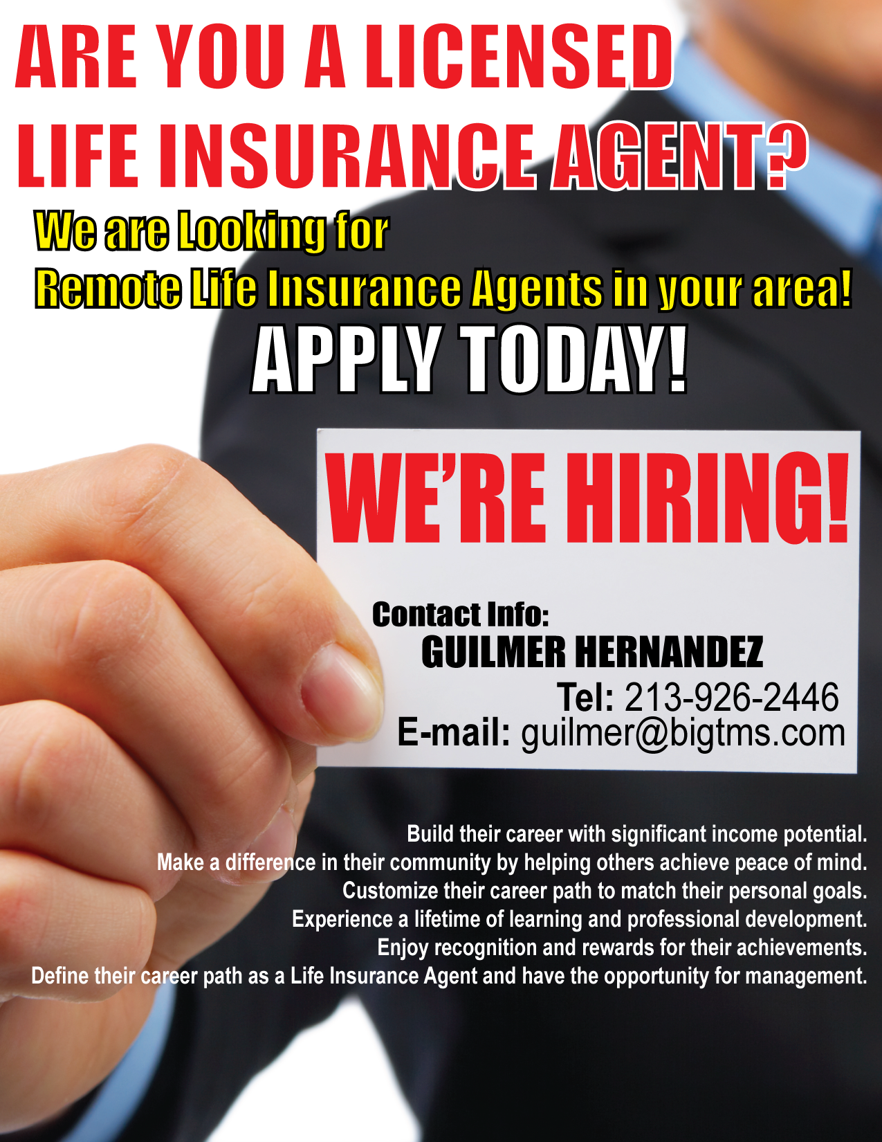 Ims Inc Is Looking For Remote Life Insurance Agents Statewide