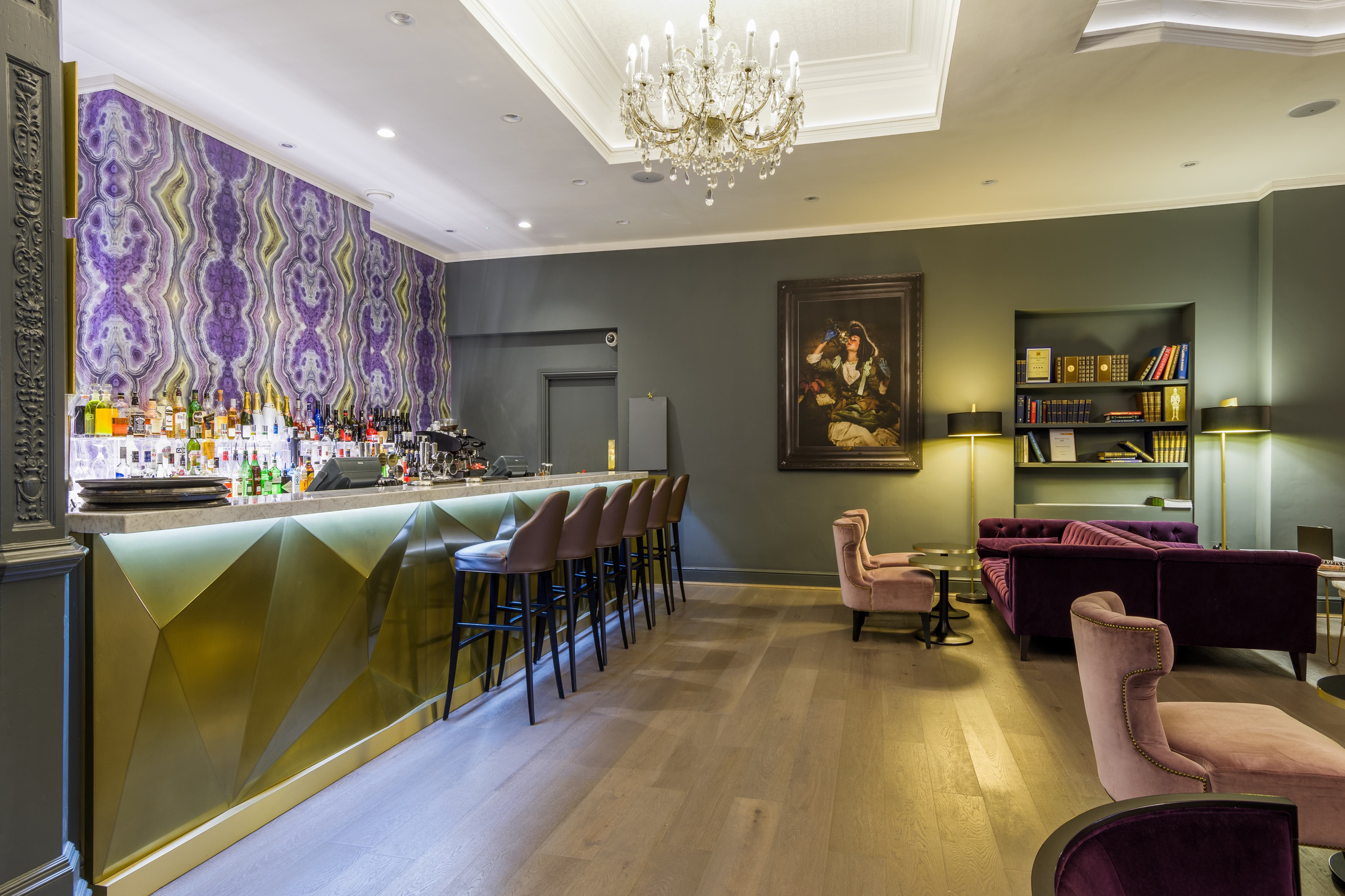Leicester Grand Hotel Bar Polygonal Polished Brass Front Designed By House