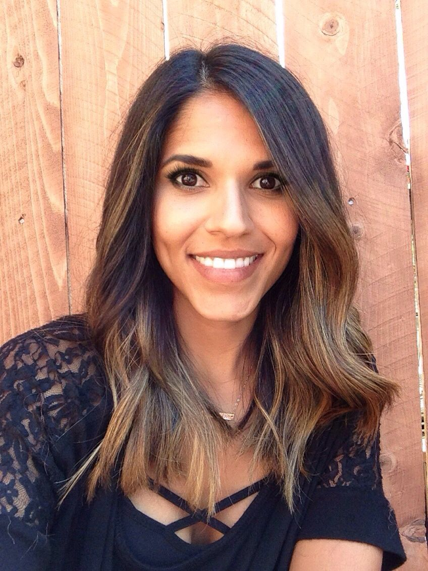 Balayage Ombre For Dark Hair And Brown Skin Tone Hair Ideas In
