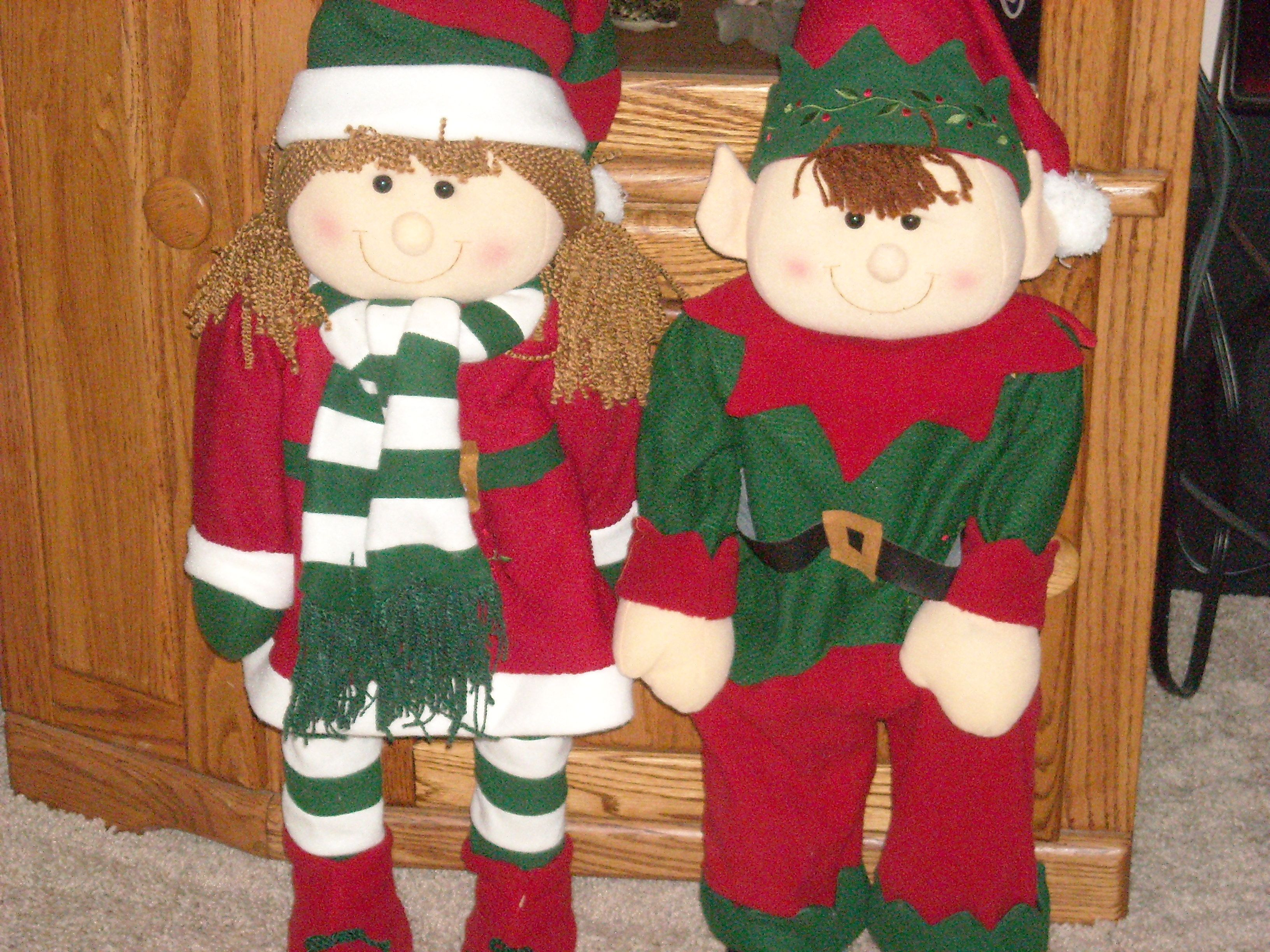 Elf Porch Greeters Kmart Holiday Christmas Ornaments Christmas