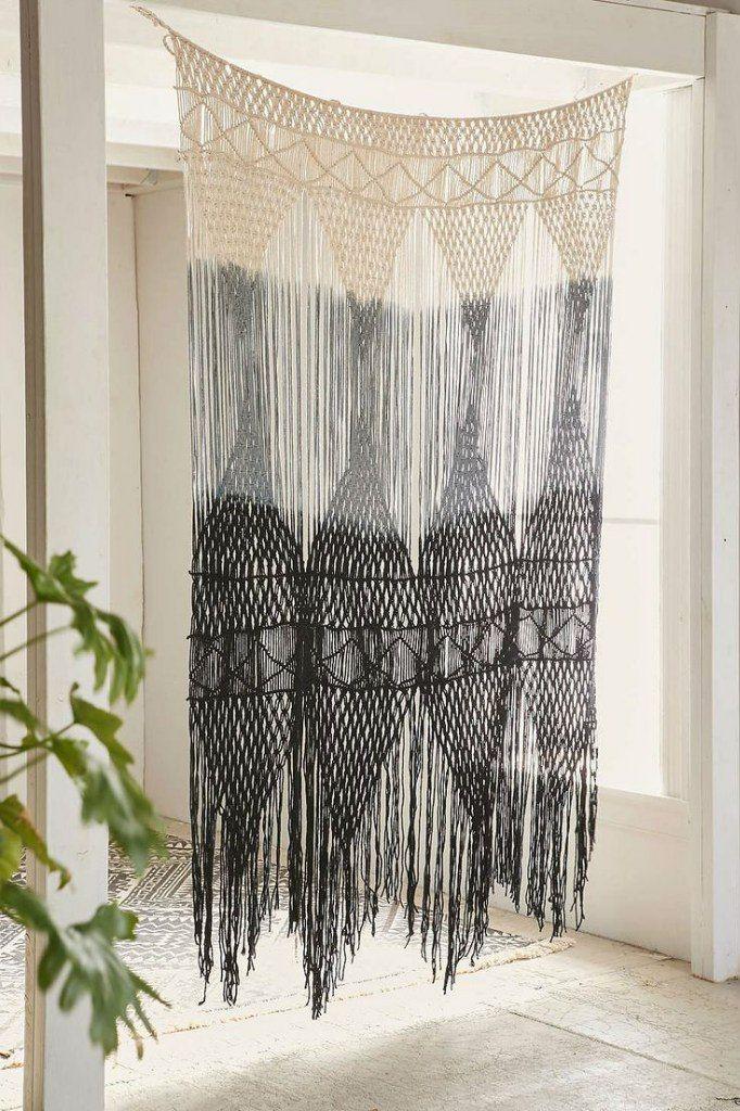 Superior Macrame Curtains Part - 4: Boho Macrame Curtain