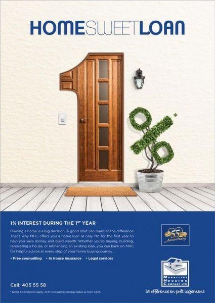 1 percent home loan advertisement