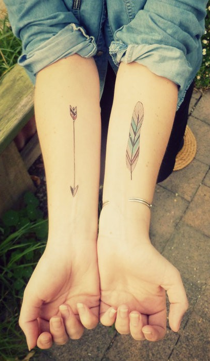 Painless temporary tattoos feather tattoos arrow and for Painless permanent tattoos