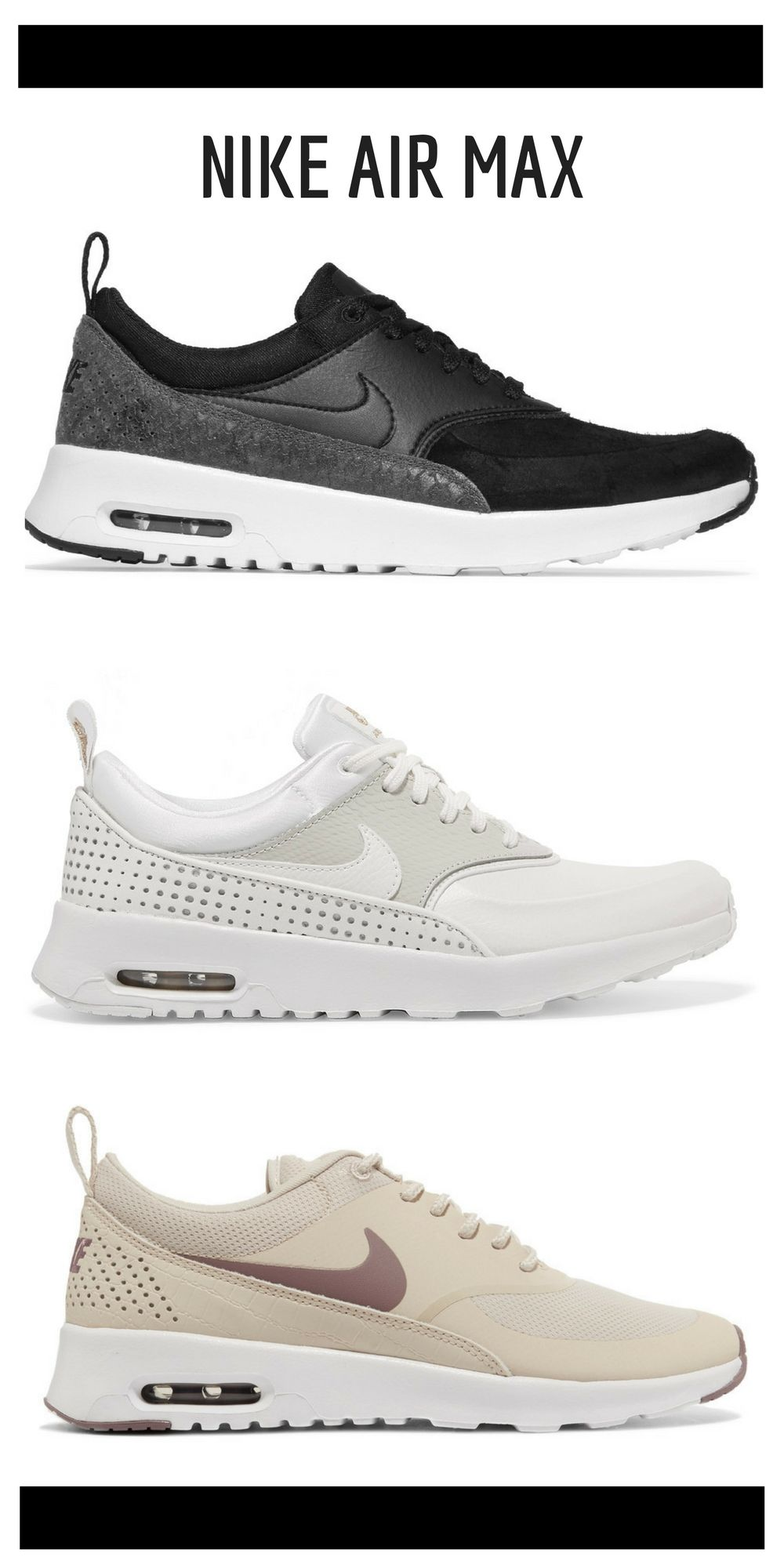 ad Nike Air Max Thea Rubber, Stretch mesh And Croc effect