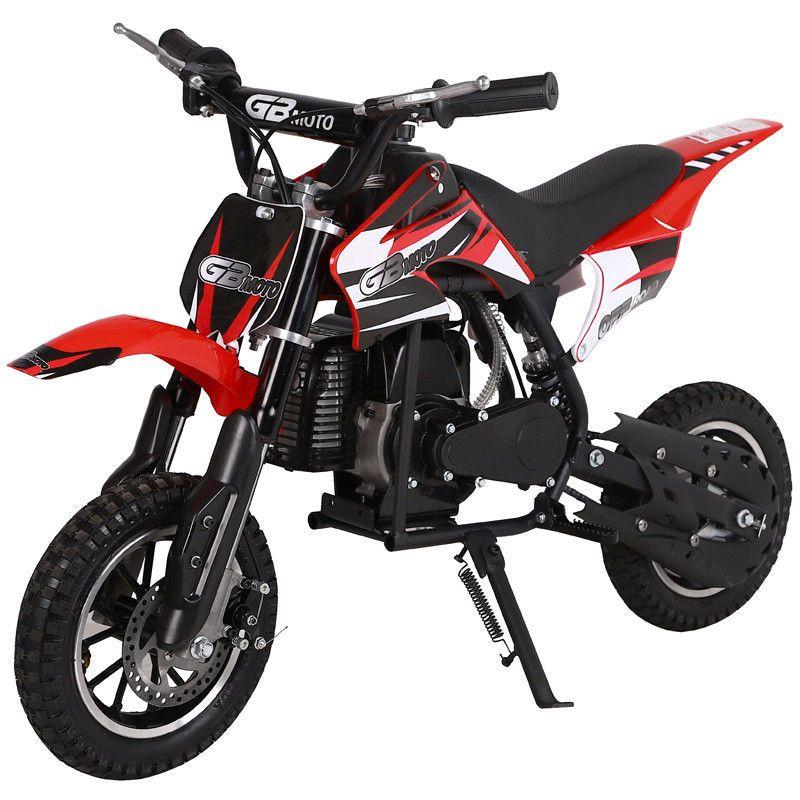 Go Bowen Dakar Mini Dirt Bike 49cc 2 Stroke Red Black New