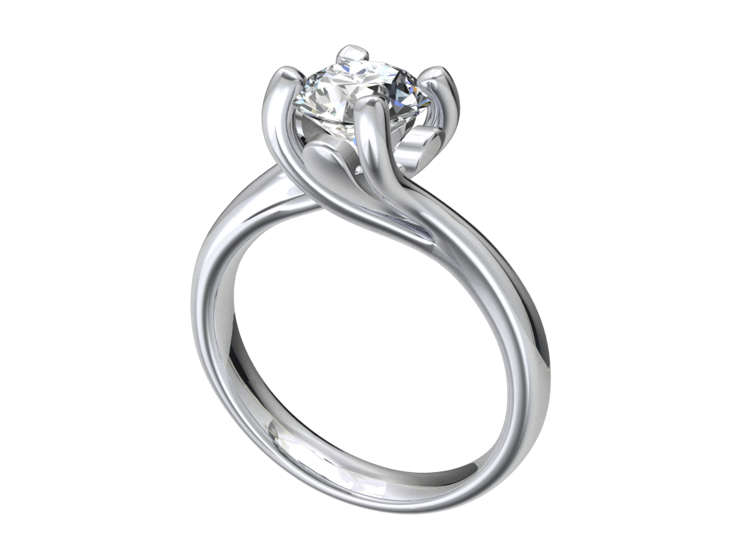 Free Download Jewelry 3d Engagement Ring Design In Stl File Format