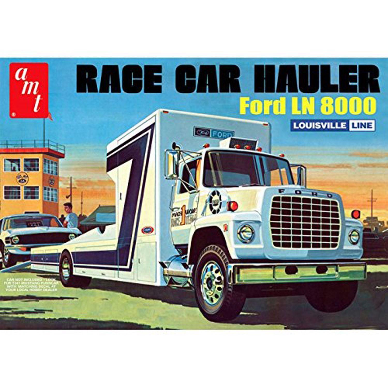 Race car hauler ford ln8000 amt 758 1 25 truck plastic model kit