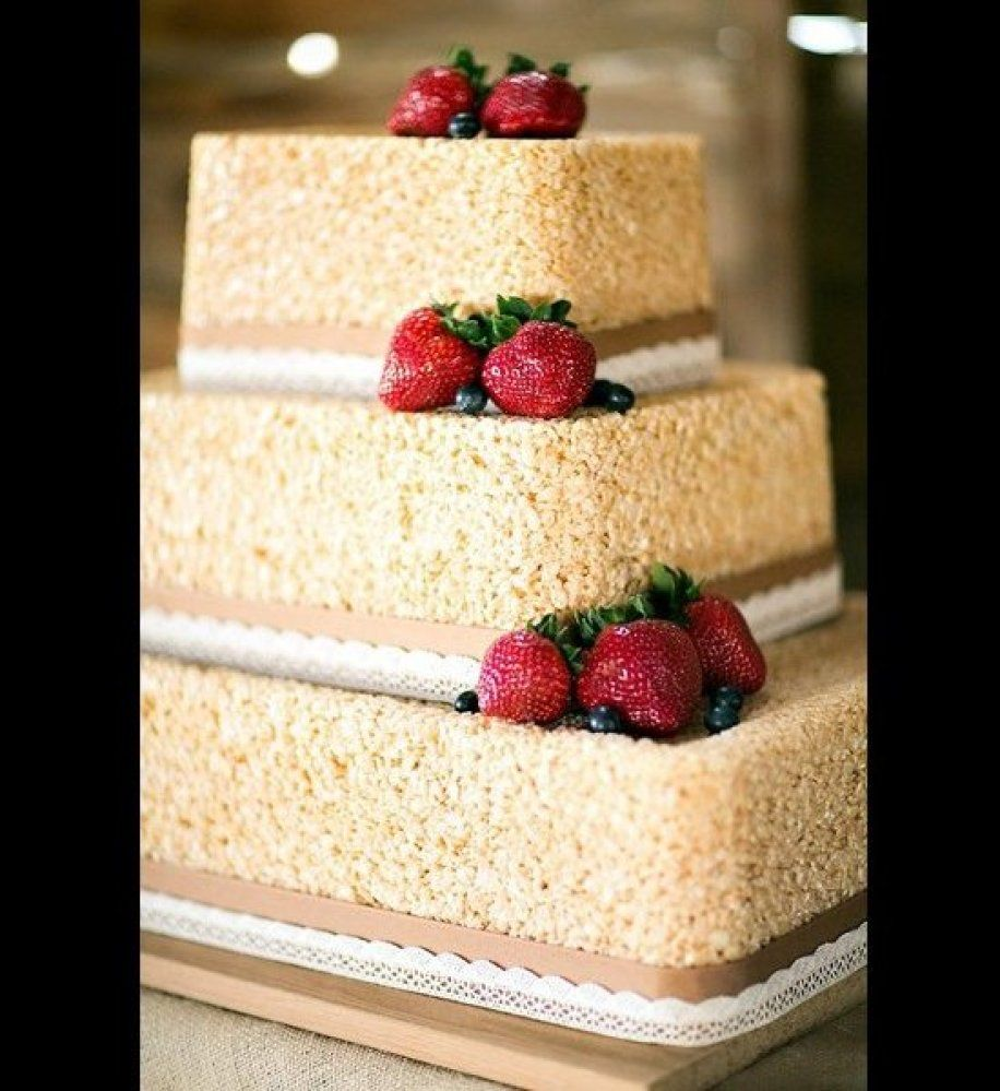 No Bake Rice Krispies Wedding Cake Recipe: Feature Your Favorite Childhood Treat In A Wedding-worthy