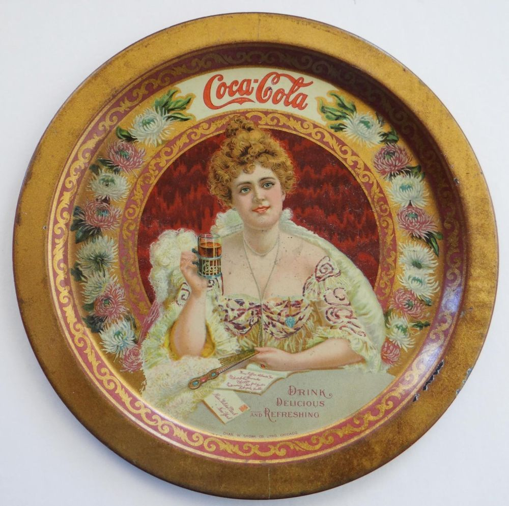 "1903 Vintage ""Hilda"" Cola-Cola Change Tray - 6"" diameter sold for $700. Feb 2013, 3 bids"