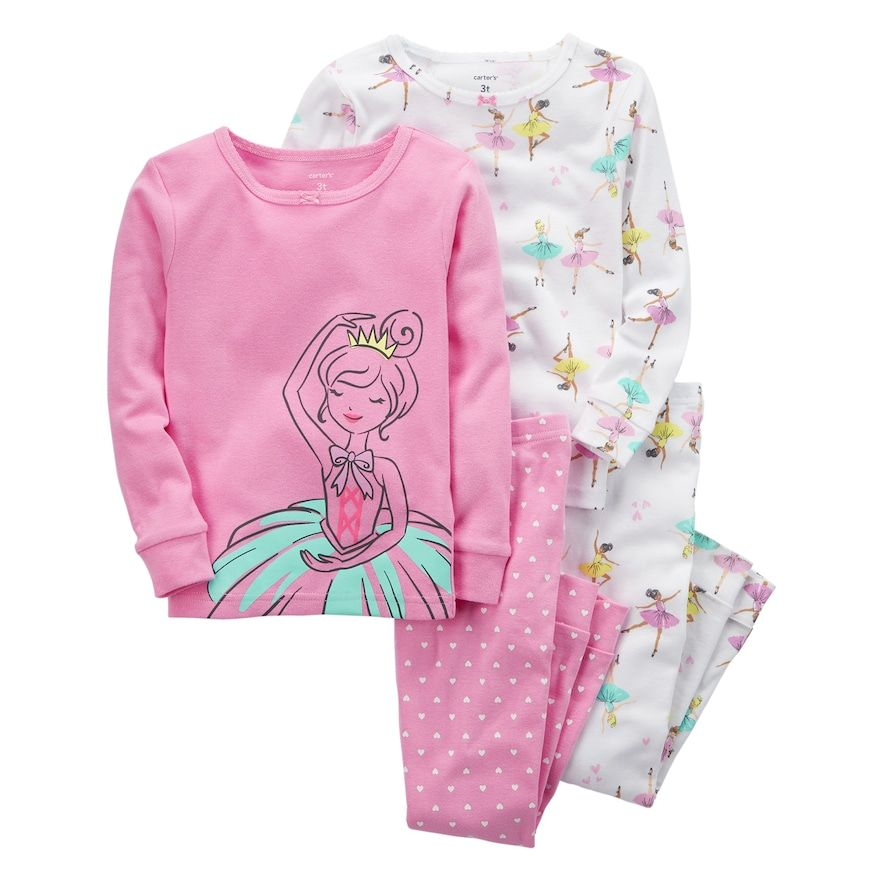 22f3031ee Girls 4-12 Carter s 4-pc. Ballerina Pajama Set