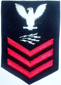 Us Navy Male Rating Badge Rm Radioman Petty Officer First