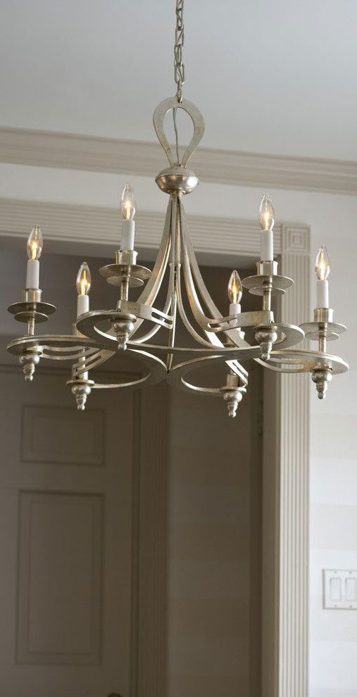 Hand Wrought Iron Chandelier In Silver Leaf Finish Details Home Lighting Ideas Chandeliers Wrought Iron Chandeliers Iron Chandeliers Hand Wrought Iron