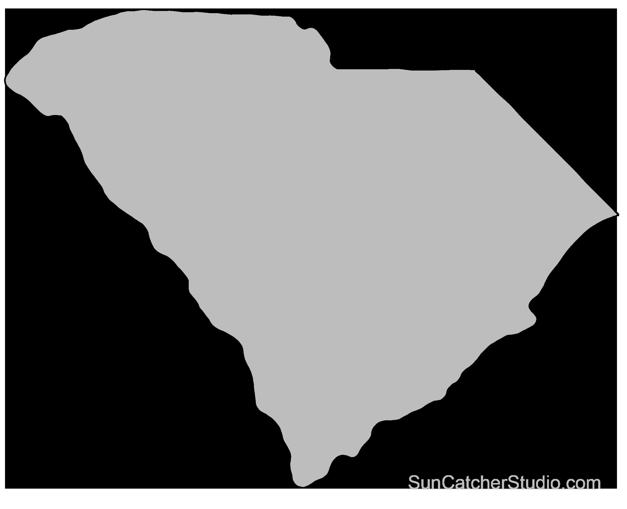 South Carolina Map Outline South Carolina   Map Outline, Printable State, Shape, Stencil