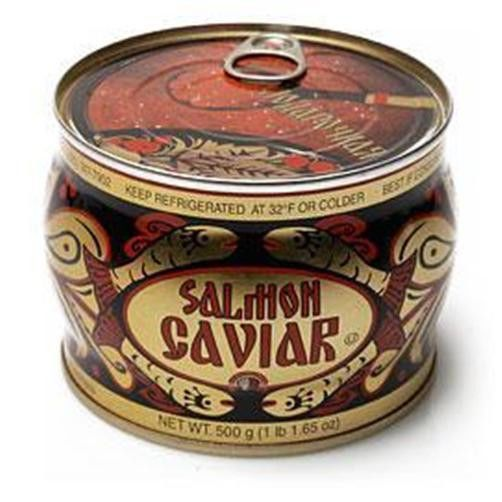Best Quality Gift  Russian Style Kosher Salmon Red Caviar 500 g / 17.65 oz can