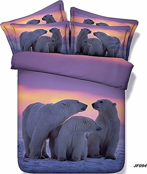 Photo of Comforter bedding sets 3D Polar Bear duvet cover bed sheet quilt bedspread super…
