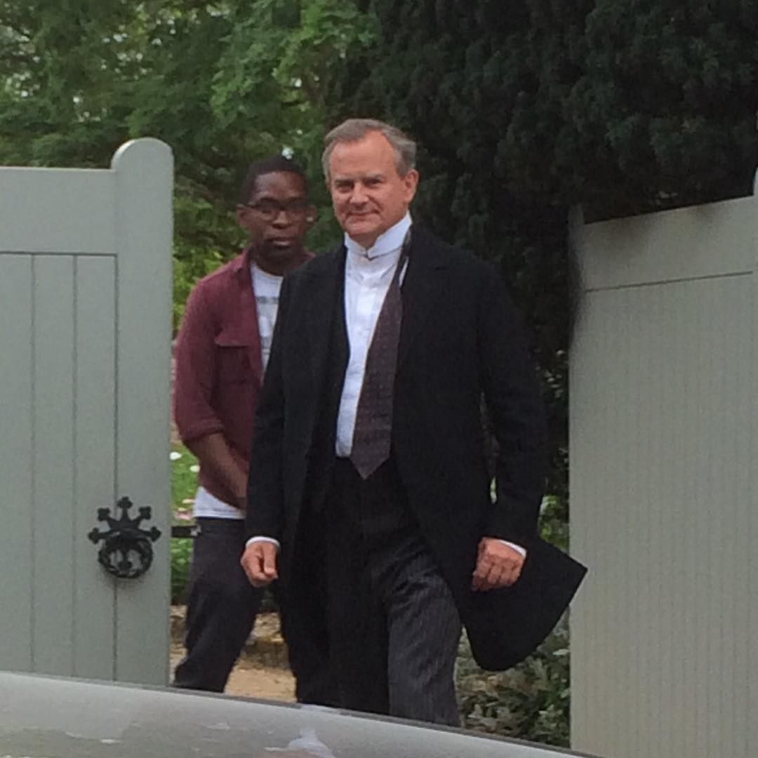 mini heather on instagram | #HughBonneville #LordGrantham #DowntonAbbey #Downtonfilming
