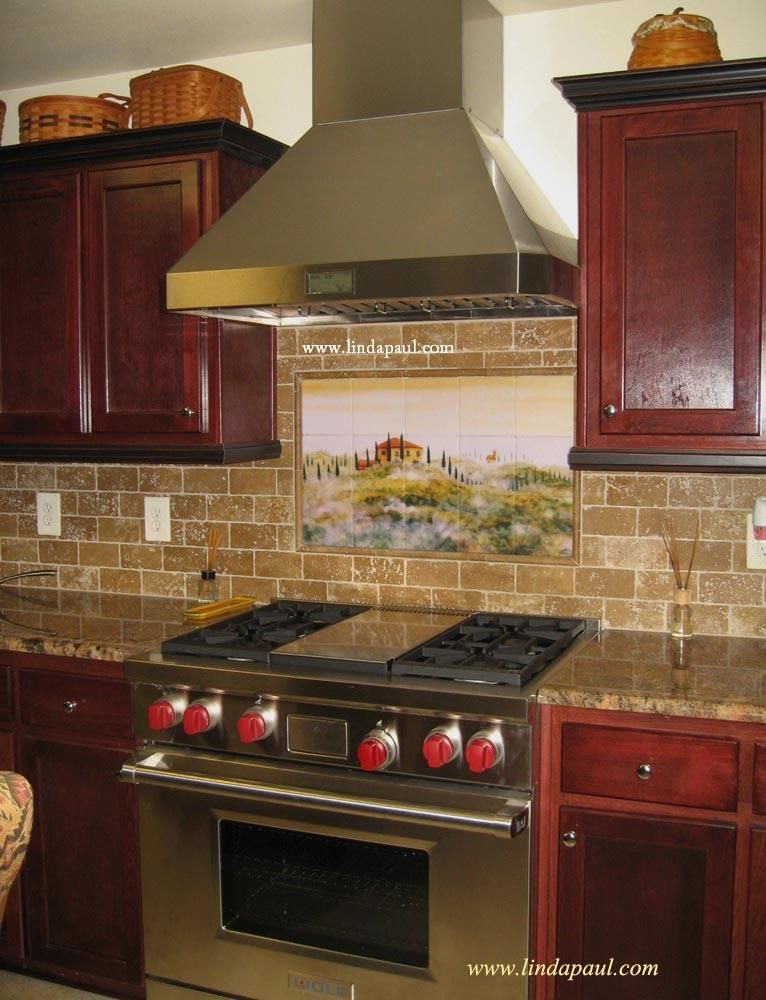 Kitchen Backsplashes Kitchen Backsplash Tile Murals Of Tuscany Landscape Kitchen Tiles Backsplash Kitchen Backsplash Designs Tuscan Tile