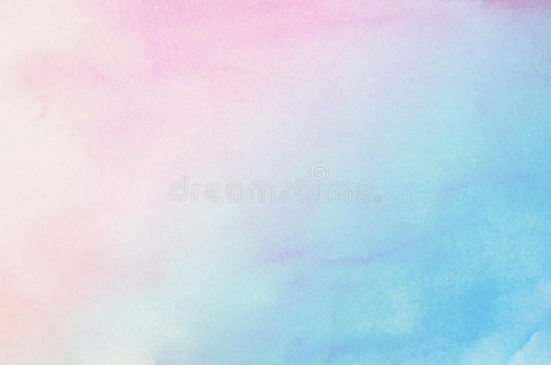Abstract Blue And Pink Pastel Watercolor Background Abstract
