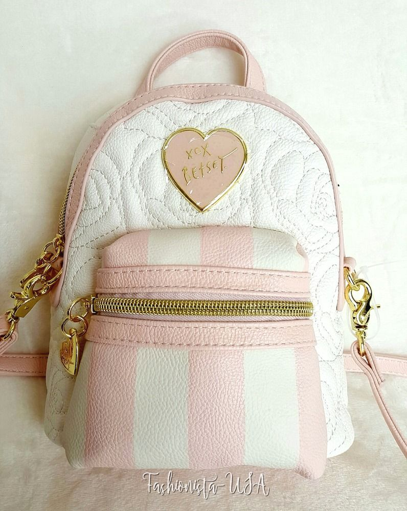 fc3b9746fb8 Betsey Johnson Mini Convertible Crossbody Backpack - CREAM ...