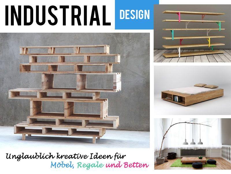 Kunstvolle Industrial Style Mobel Und Regale Meine Favoriten Regal Selber Bauen Ideen Folding Furniture