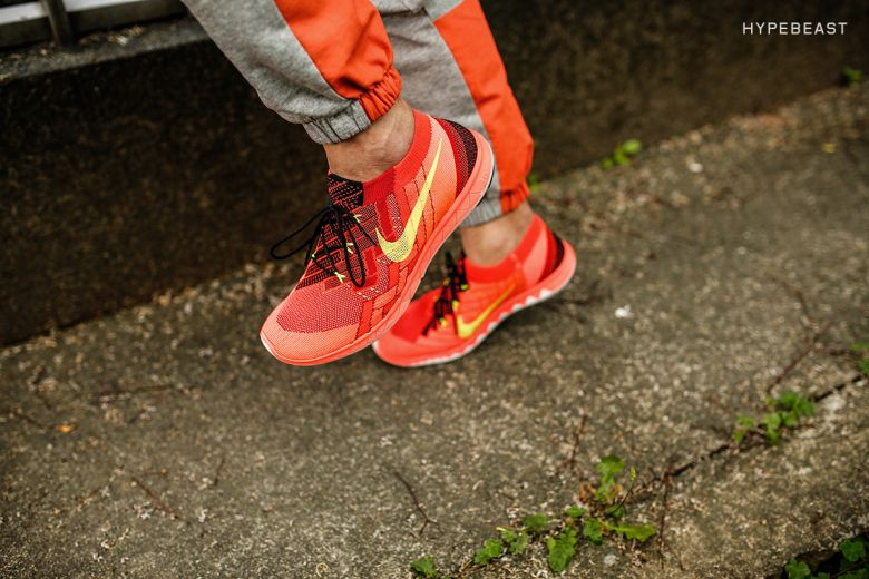 3bffce8c83cf A Closer Look at the Nike Free 3.0 Flyknit Bright Crimson Volt ...