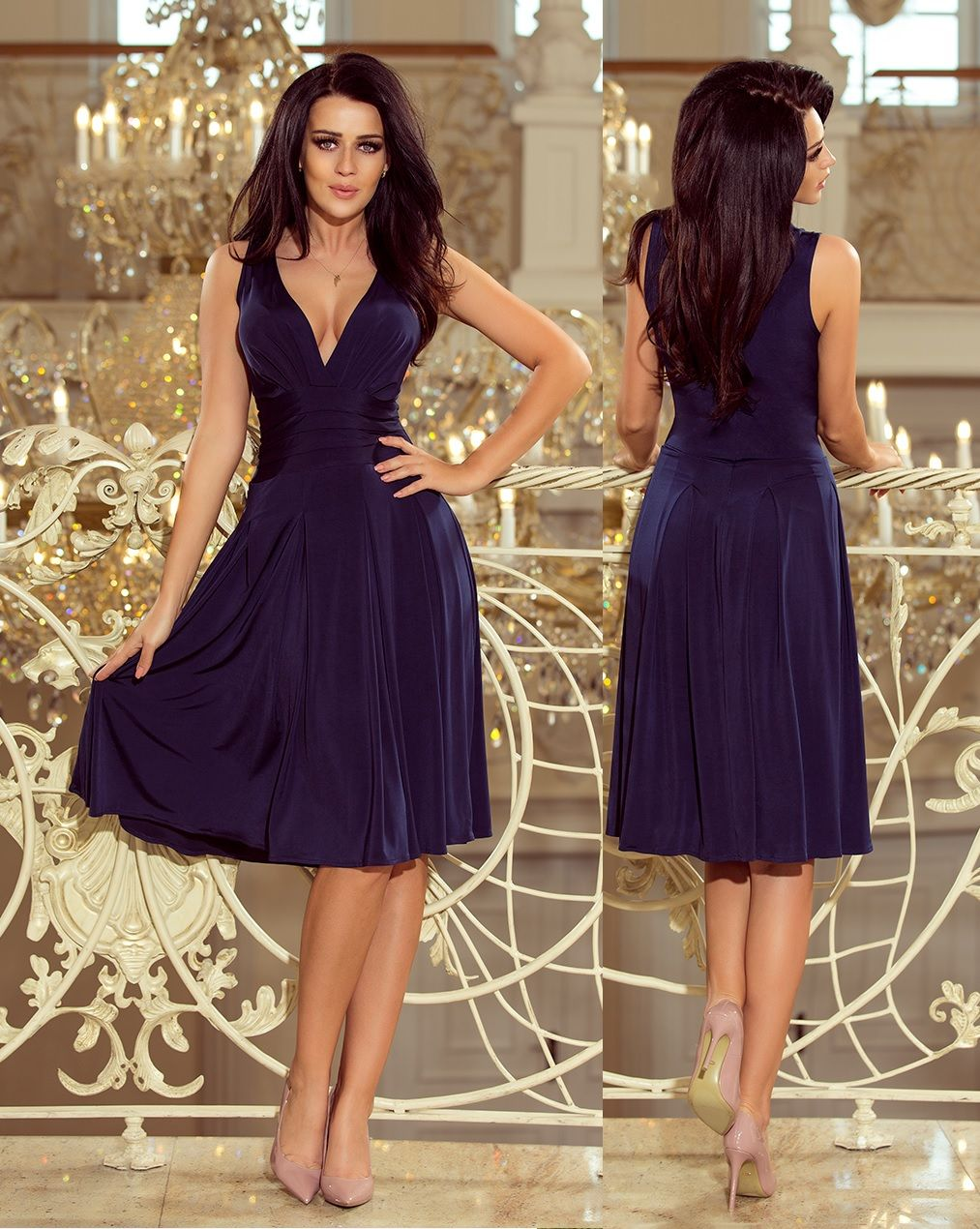 eee0cbbef1 V kivágású bő szoknyájú alkalmi ruha (S,M,L,XL) ekkor: 2019 | Alkalmi ruha,  estélyi ruha, koktél ruha, menyecske, koszorúslány, esküvői ruha esküvő  wedding ...