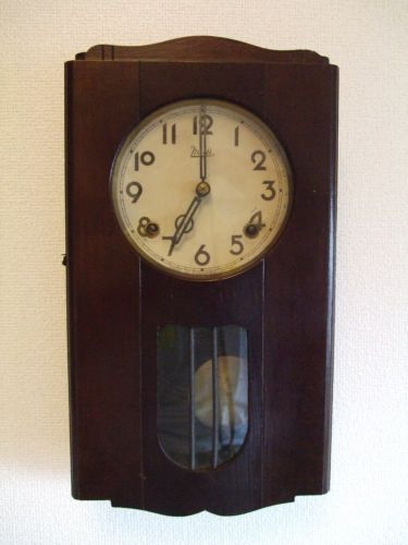 Antiqure 1948 Japanese Wall Clock Meiji Nagoya Made In Occupied Japan Exc Japanese Wall Wall Clock Clock