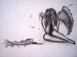 Fallen Angel Broken Wings Tattoo