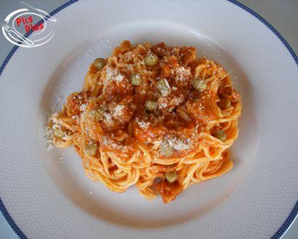 Spaghetti con salsa ragú - Platos Plis Plas