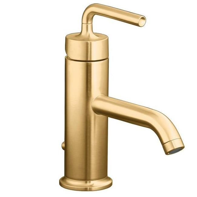 Photo of Puristic faucet with a straight lever handle (bronze finish / brushed – assembly required – 1-2 GPM), Braun, Kohler